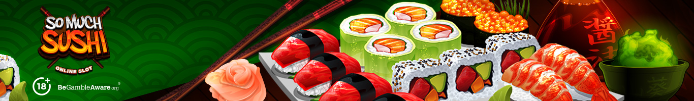 So Much Sushi Slot Banner
