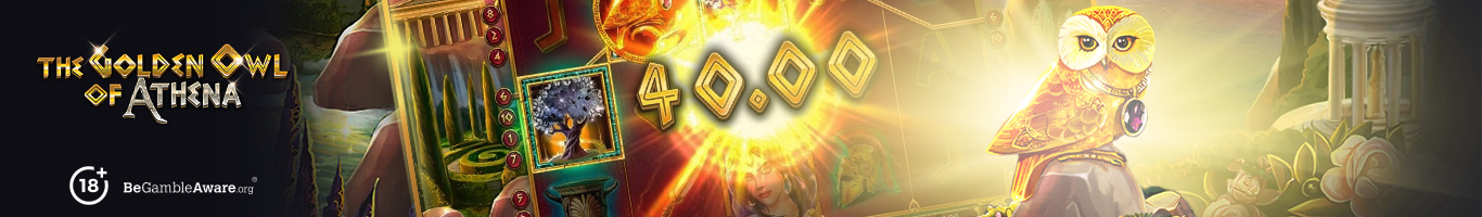 The Golden Owl of Athena Slot Banner