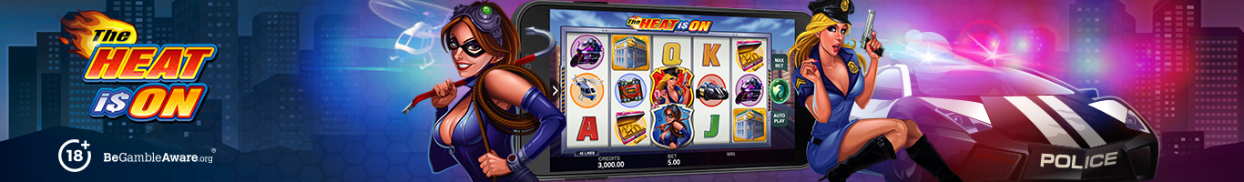 The heat Is On Slot Banner