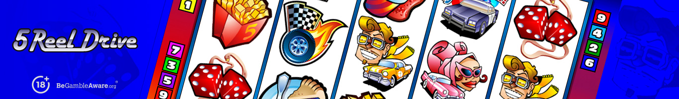 5 Reel Drive Slot Banner