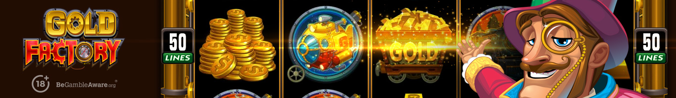 Gold Factory Slot Banner