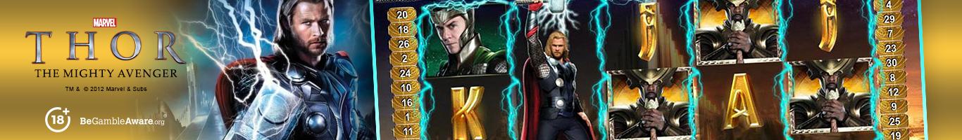 Thor The Mighty Avenger Slot Banner