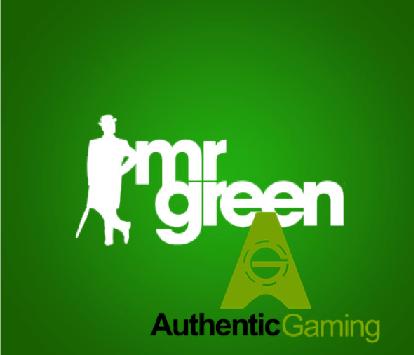 Mr Green und Authentic Gaming schließen neuen Vertrag ab